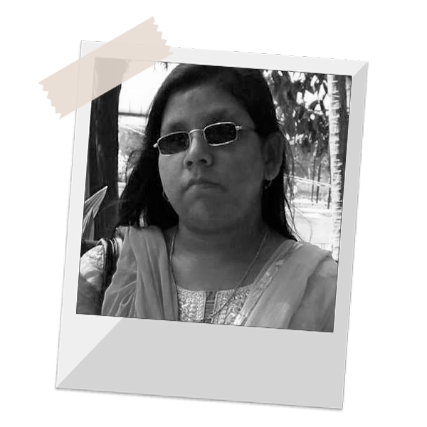 Photo of visually impaired girl Bhanita