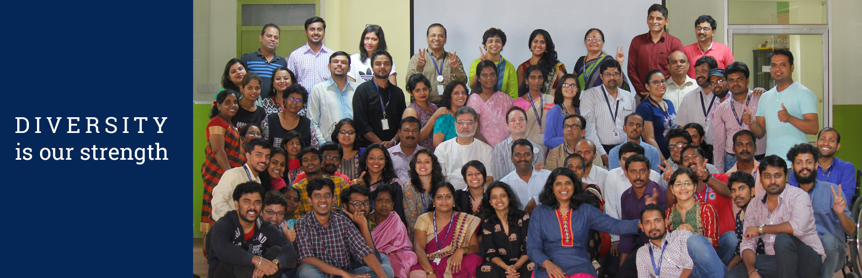 Enable India Staff Photo with text Diversity is our strength