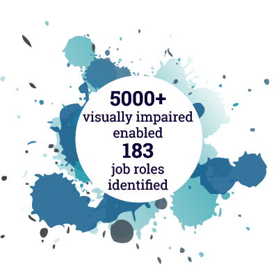 5000+ visually impaired enabled 183 job roles identified