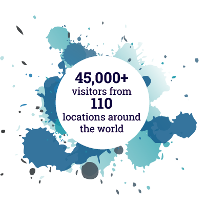 45000+ visitors from 110 locations around the world