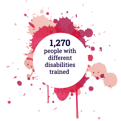 1270 people with different disabilities trained