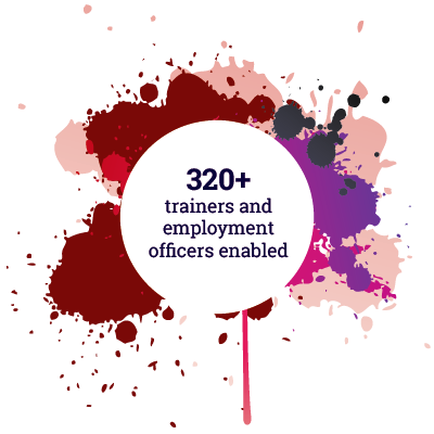 320+ trainers and employment officers enabled