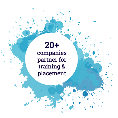 20+ COMPANIES PARTNERS FOR TRAINING & PLACEMENT