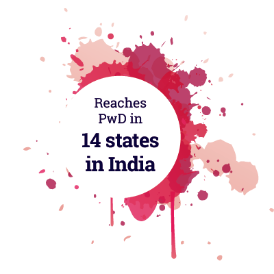 Reaches PwD in 14 states in India