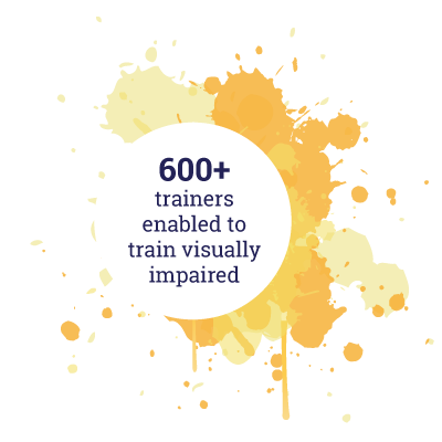 600+ trainers enabled to train visually impaired