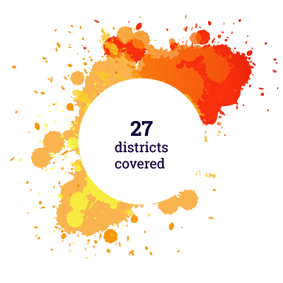 27 districts covered