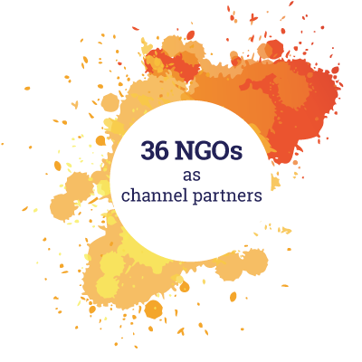 36 NGOs as channel partners