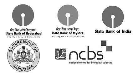 Logos - State Bank of Hyderabad, State Bank of Mysore, State Bank of India, Guv of Karnataka, NCBS
