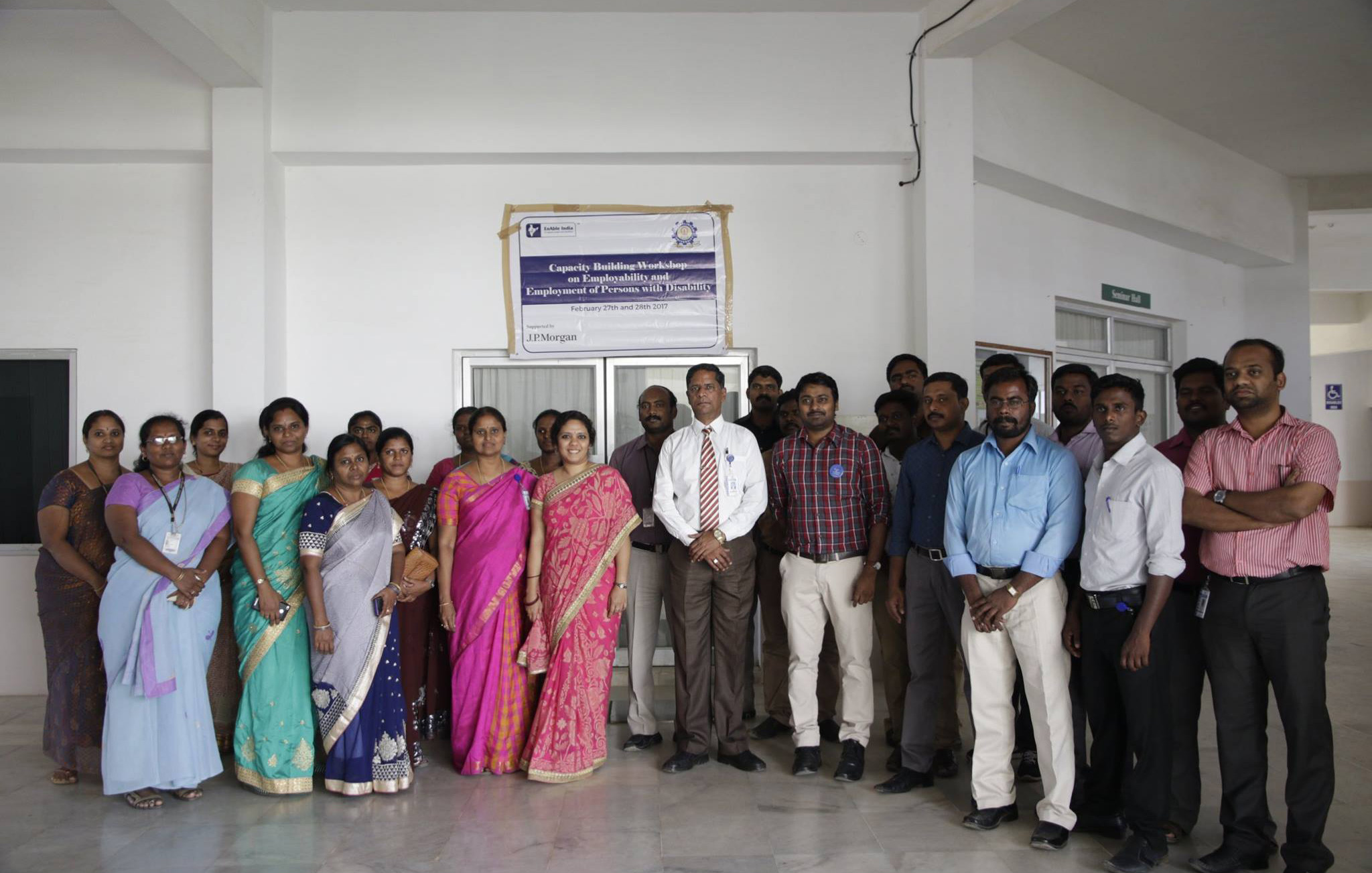 Enable India Team with Kalasilingam University Staff