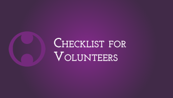 Download Checklist for Volunteers