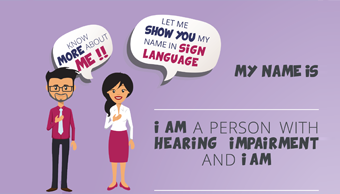Order Poster for effective inclusion of employees with hearing impairment