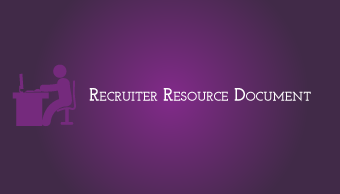 Download Recruiter Resource Document