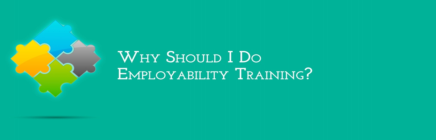 Banner Image with text Why should I do employability training