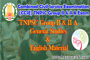 English Version - TNPSC Group 2a Materials