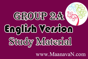 Tnpsc Group 2A Materials - English Version