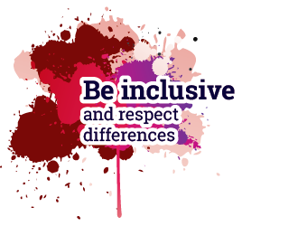 Be inclusive and respect differences