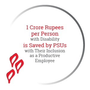 1 Crore Rupees per Person with Disability is Saved by PSUs with Their Inclusion as a Productive Employee