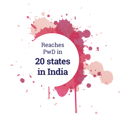 Reaches PwD in 20 states in India