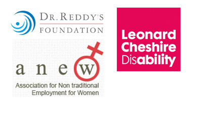 Logos - Dr. Reddys Foundation, Anew, Leonard Cheshire Disability