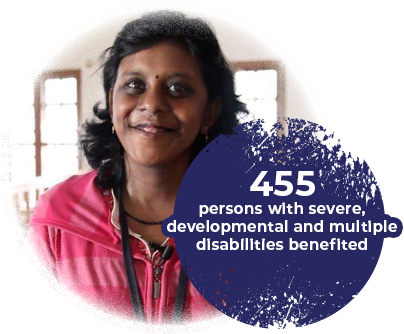 455 persons with severe, developmental and multiple disabilities benefited