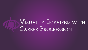 Download Visually impaired with career progression
