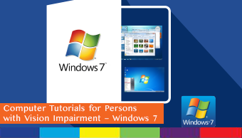 Order Computer Tutorials Win7 for Visually Impaired