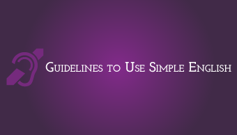 Download Guidelines to Use Simple English