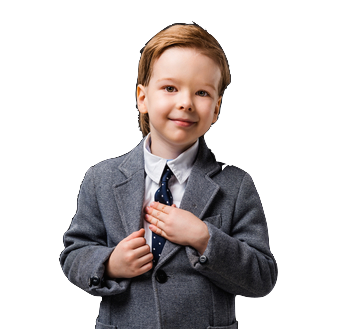 Boy in grey Suit